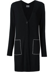 Grey Jason Wu V Neck Long Cardigan Black