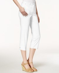 Charter Club Cropped Twill Pants Only At Macy's Bright White