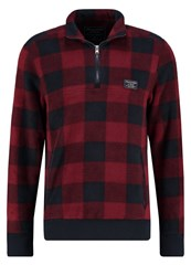 Abercrombie And Fitch Sweatshirt Burgundy Plaid Dark Red
