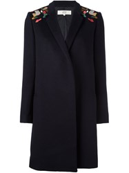 Vanessa Bruno Athe Shoulder Patches Coat Blue