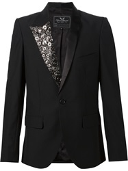Unconditional Press Stud Lapel Tuxedo Blazer Black