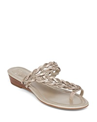 Vince Camuto Wedge Sandals Imora Braided Demi Metallic Glaze Flash Gold