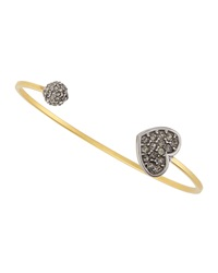 Linda Levinson Heart And Ball Open Cuff Bracelet