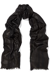 Tomas Maier Clifton Striped Modal Scarf Black