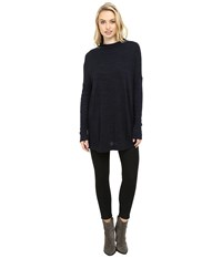 Three Dots Margo Oversized Pullover Night Iris Women's Clothing Navy