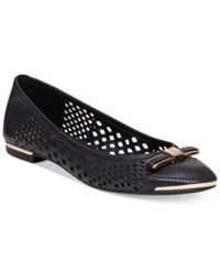 Vince Camuto Celindan Perforated Ballet Flats Women's Shoes Black