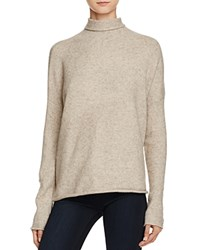 French Connection Autumn Flossy Turtleneck Sweater Dark Oatmeal Melange