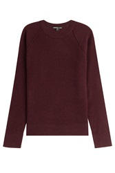 James Perse Textured Cashmere Pullover Red