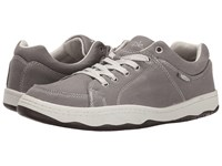 Simple Pipeline Stone Grey Canvas Men's Shoes Brown