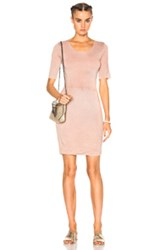 Raquel Allegra Jersey Twist Dress In Pink