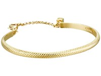 Cole Haan Basket Weave Thin Cuff Gold Bracelet