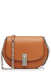 Marc Jacobs West End Leather Saddle Bag Brown