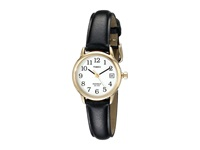 Timex Core Easy Reader Black Strap Gold White Dial Watches