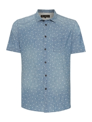 Label Lab Alamos Light Wash Denim Short Sleeve Shirt Indigo