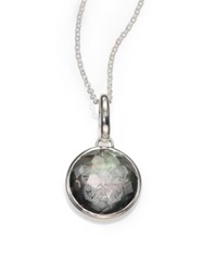 Ippolita Black Shell Clear Quartz And Sterling Silver Carved Butterfly Intaglio Charm