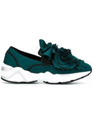 Suecomma Bonnie Rose Embellished Sneakers Green
