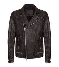 Allsaints All Saints Conroy Leather Biker Jacket Male Black