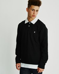 The Hundreds Valor Long Sleeve Rugby Black