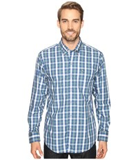 Tommy Bahama Tudo Check Long Sleeve Woven Shirt Bering Blue Men's Long Sleeve Button Up