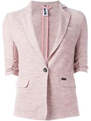 Bark Single Breasted Blazer Pink And Purple