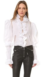 Natasha Zinko Long Sleeve Blouse White