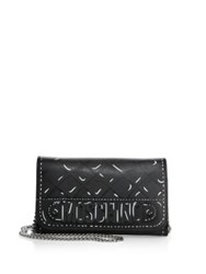 Moschino Fantasy Printed Leather Chain Wallet Black