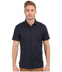 Perry Ellis Exclusive Pin Dot On Oxford Fabric Shirt Eclipse Men's Short Sleeve Button Up Olive
