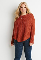 Forever 21 Loose Knit Dolman Sweater Rust