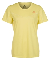 Salomon Stroll Sports Shirt Light Hay Yellow