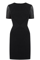 Oasis Broderie Patched Dress Black