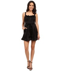 Nanette Lepore Rhumba Romper Black Women's Jumpsuit And Rompers One Piece