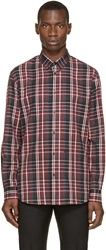 Dsquared Red And Grey Flannel Check Shirt