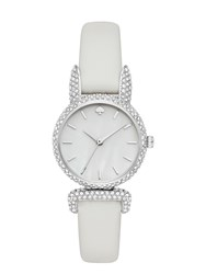 Kate Spade Pave Bunny Mini Eldridge Watch White Stainless Steel