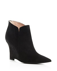 Furla Musa Pointed Toe Wedge Booties