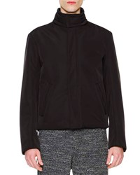 Maison Martin Margiela High Collar Zip Jacket Black Men's