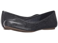 Dr. Scholl's Friendly Dark Grey Oppel Snake Women's Flat Shoes Black