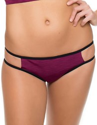 Oakley Double Spaced Retro Bikini Bottom Purple