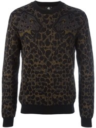 Paul Smith Ps By Leopard Pattern Jumper Black