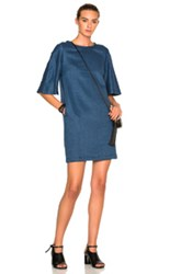 3.1 Phillip Lim Flare Sleeve Dress In Blue
