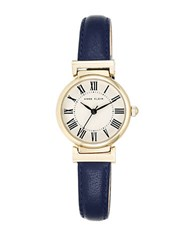 Anne Klein Goldtone And Blue Leather Strap Watch