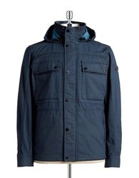 Strellson Snap Button Military Jacket Navy