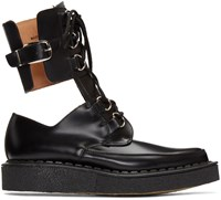 Comme Des Garcons Black Buckles Cut Out Boots
