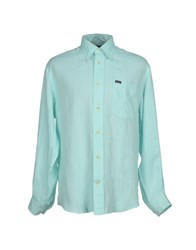 Faconnable Shirts Shirts Men Light Green