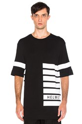 Helmut Lang Oversized Tee Black And White