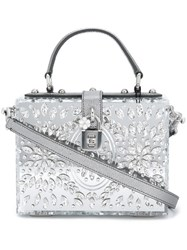 Dolce And Gabbana 'Dolce' Box Tote Grey