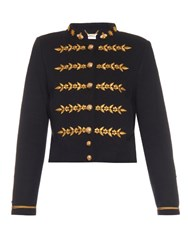 Muveil Embroidered Knitted Jacket Navy