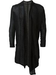 Uma Wang Semi Sheer Draped 'Luigi' Cardigan Black