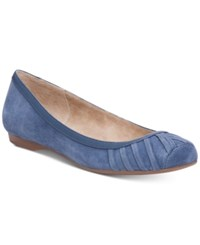 Jessica Simpson Merlie Ruched Square Toe Flats Women's Shoes Stone Blue