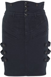 Isabel Marant Noor Stretch Denim Mini Skirt Dark Denim