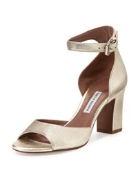 Tabitha Simmons Jerry Leather Ankle Strap Sandal Champagne